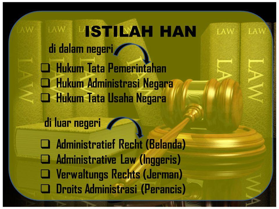 ISTILAH HAN di dalam negeri Hukum Tata Pemerintahan