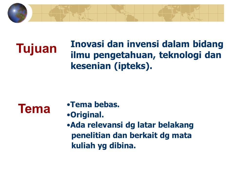 Inovasi dan invensi dalam bidang ilmu pengetahuan, teknologi dan kesenian (ipteks).