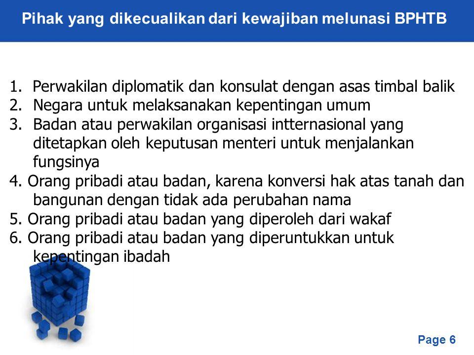 Pihak yang dikecualikan dari kewajiban melunasi BPHTB