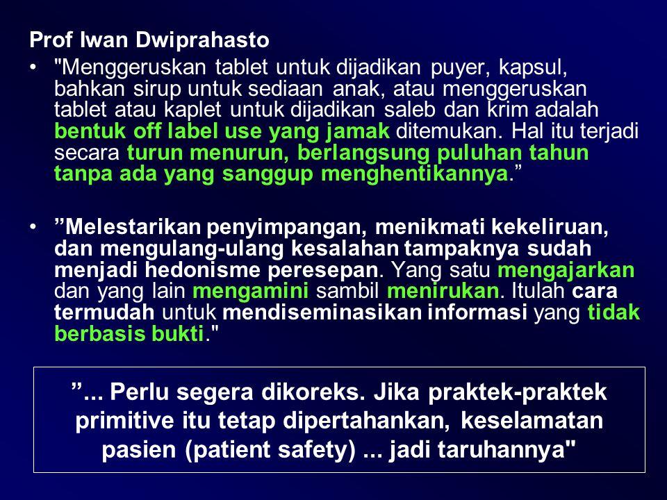Prof Iwan Dwiprahasto