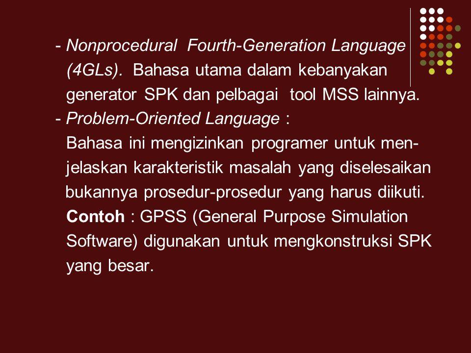 - Nonprocedural Fourth-Generation Language