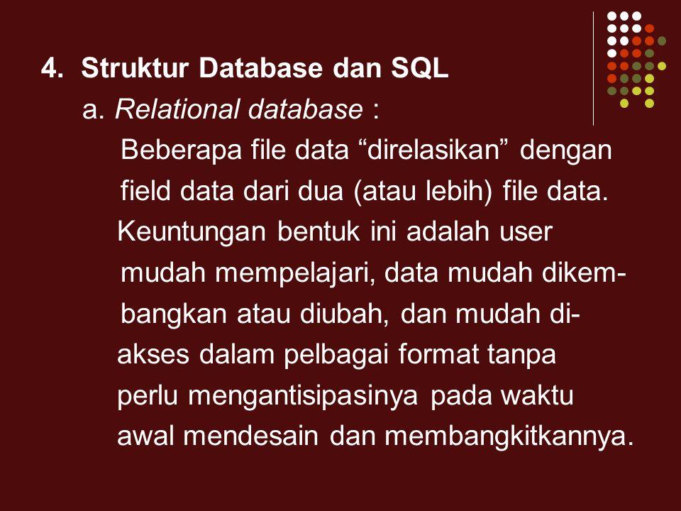 4. Struktur Database dan SQL