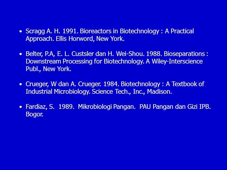 Scragg A. H. 1991. Bioreactors in Biotechnology : A Practical Approach
