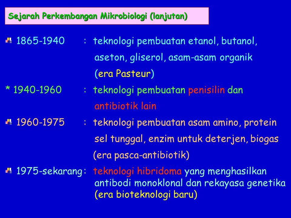 Sejarah Perkembangan Mikrobiologi (lanjutan)