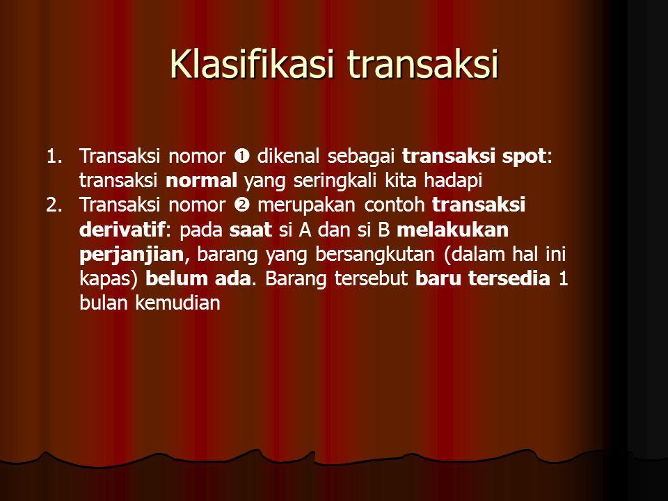 Klasifikasi transaksi