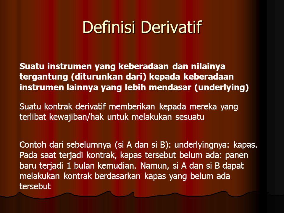 Definisi Derivatif