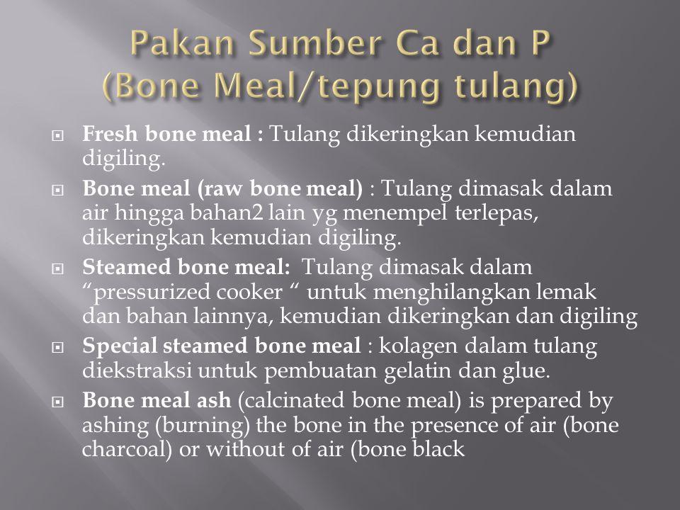 Pakan Sumber Ca dan P (Bone Meal/tepung tulang)