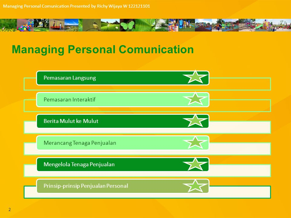 Managing Personal Comunication