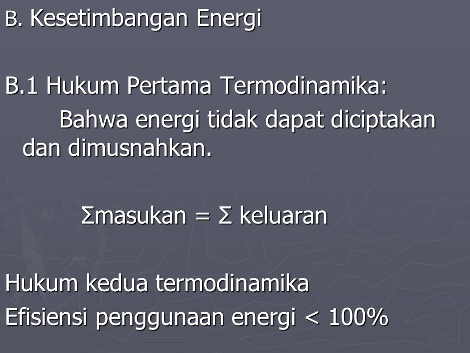 B.1 Hukum Pertama Termodinamika: