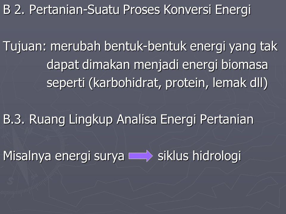 B 2. Pertanian-Suatu Proses Konversi Energi