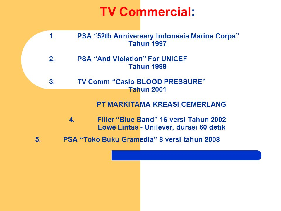 TV Commercial: 1. PSA 52th Anniversary Indonesia Marine Corps
