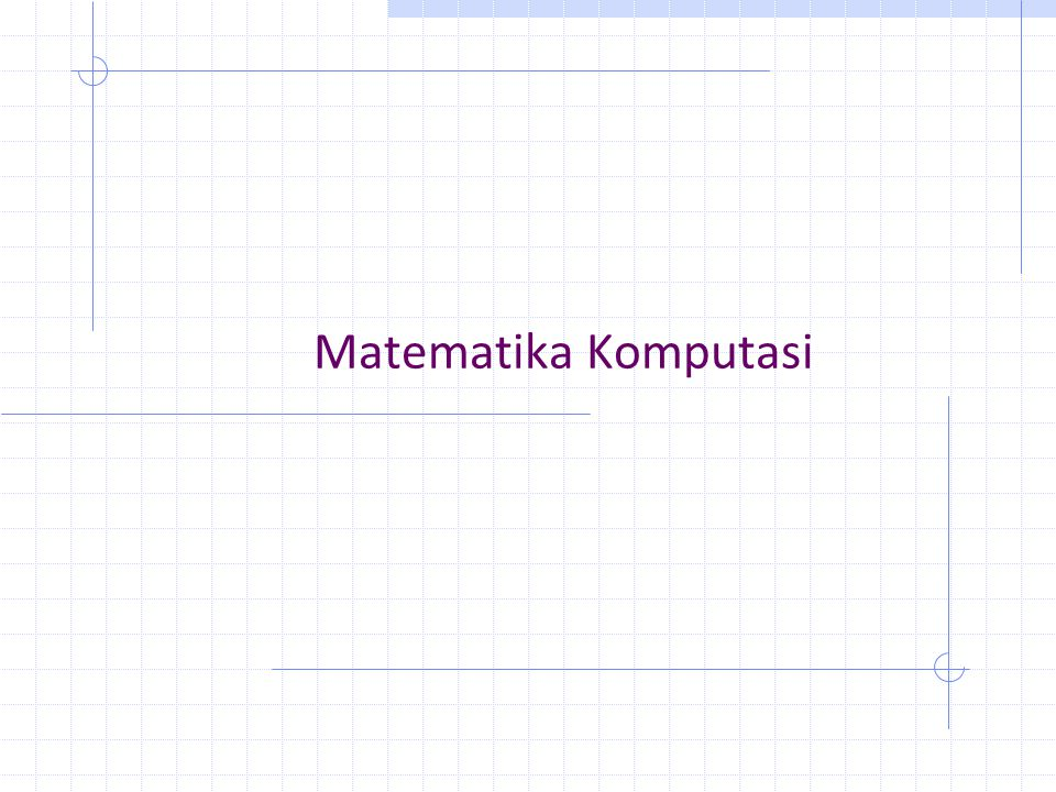 Matematika Komputasi