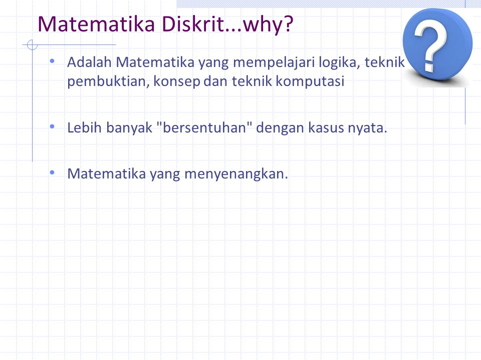 Matematika Diskrit...why