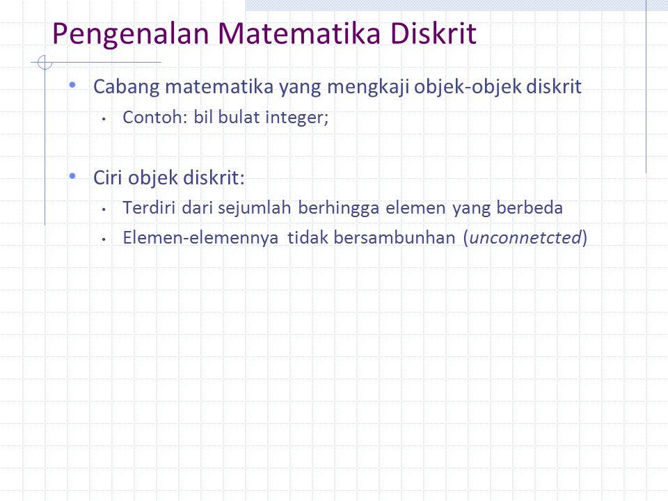 Pengenalan Matematika Diskrit