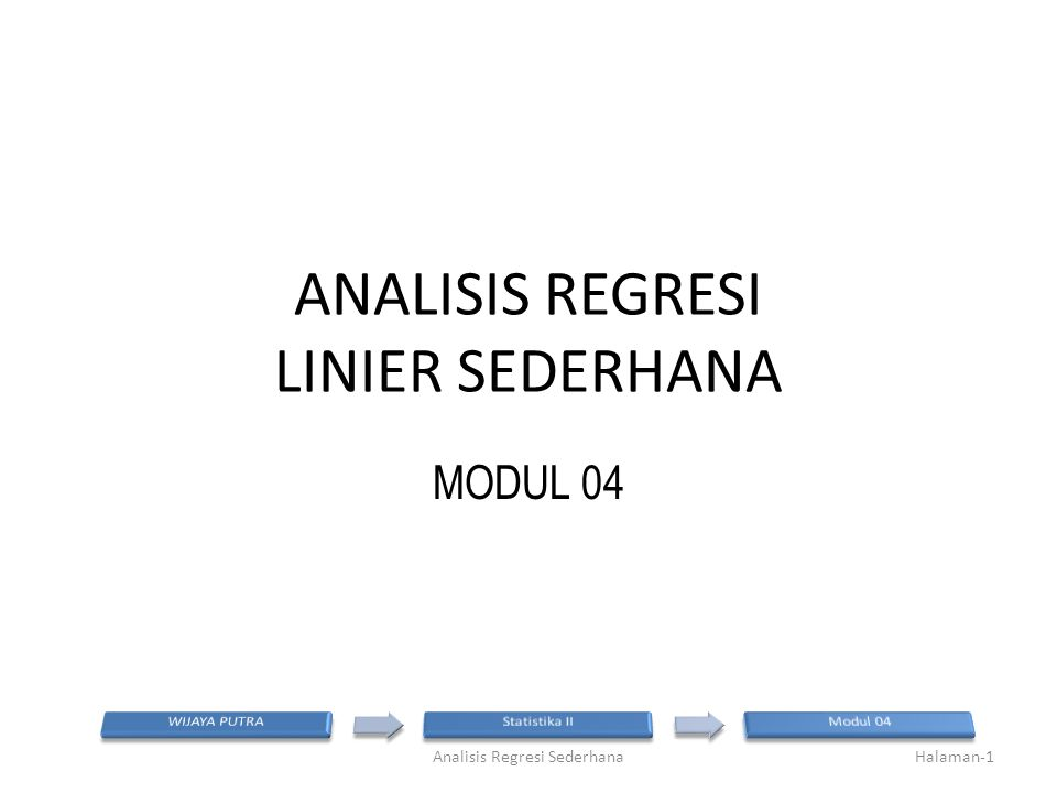 ANALISIS REGRESI LINIER SEDERHANA