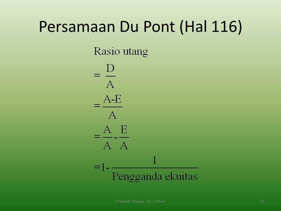 Persamaan Du Pont (Hal 116)