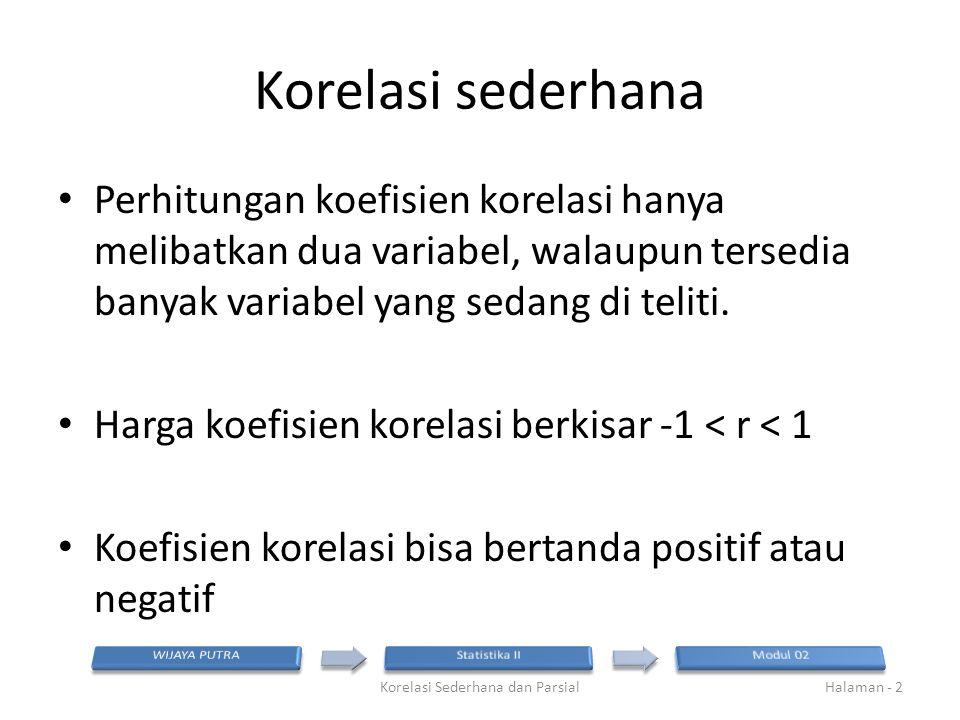Korelasi Sederhana dan Parsial
