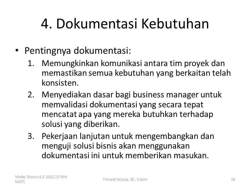 4. Dokumentasi Kebutuhan