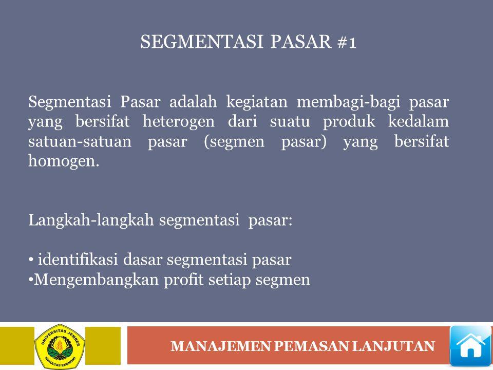 SEGMENTASI PASAR #1