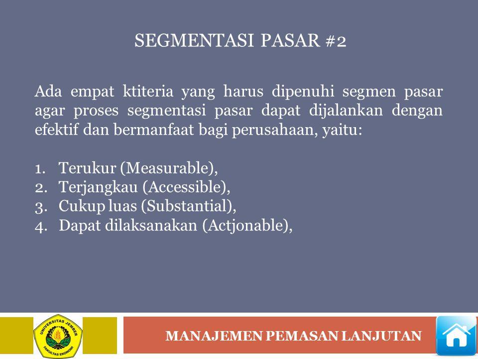 SEGMENTASI PASAR #2