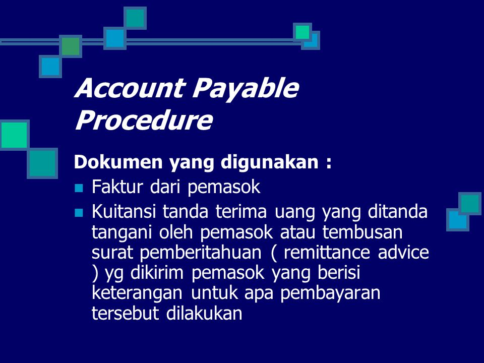 Account Payable Procedure