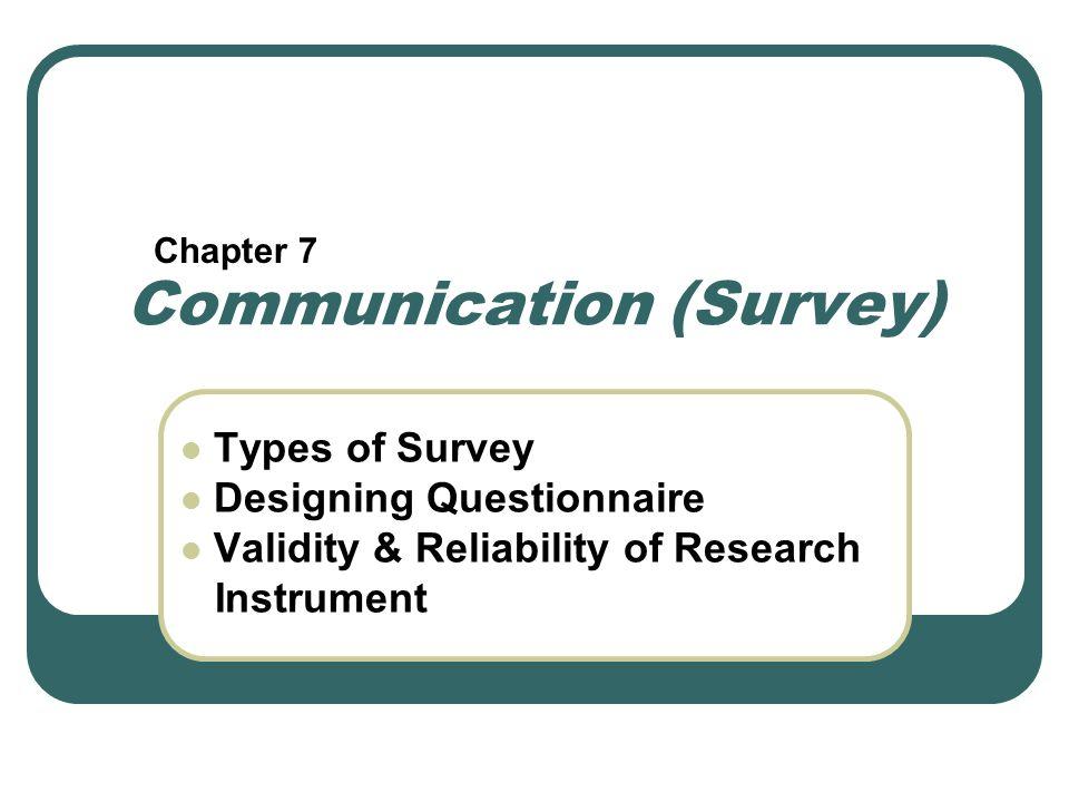 Communication (Survey)
