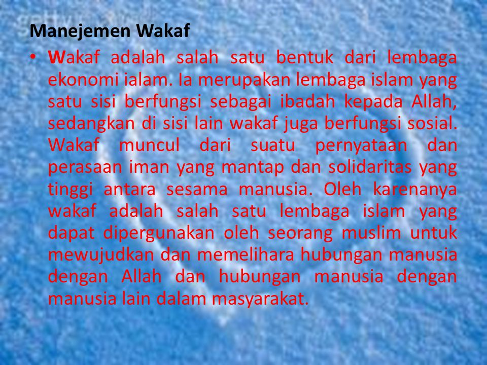 Manejemen Wakaf