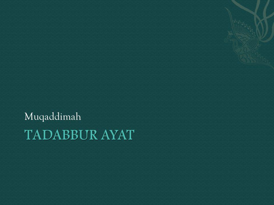 Muqaddimah Tadabbur Ayat