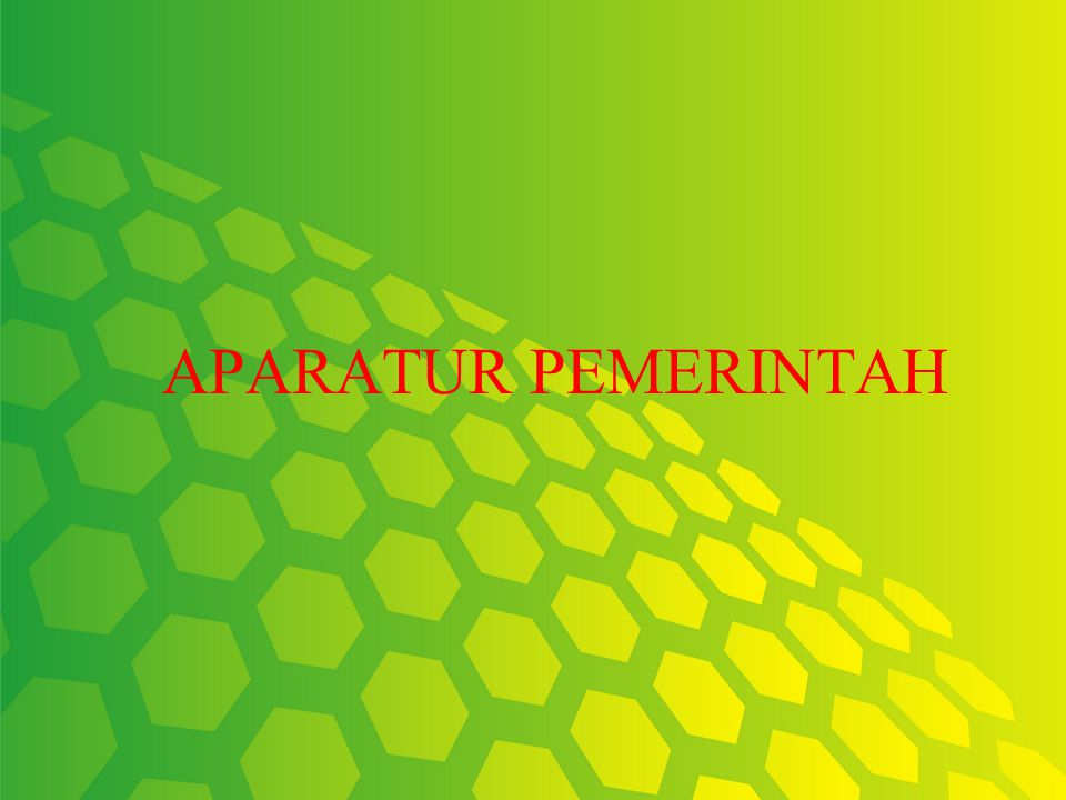 APARATUR PEMERINTAH