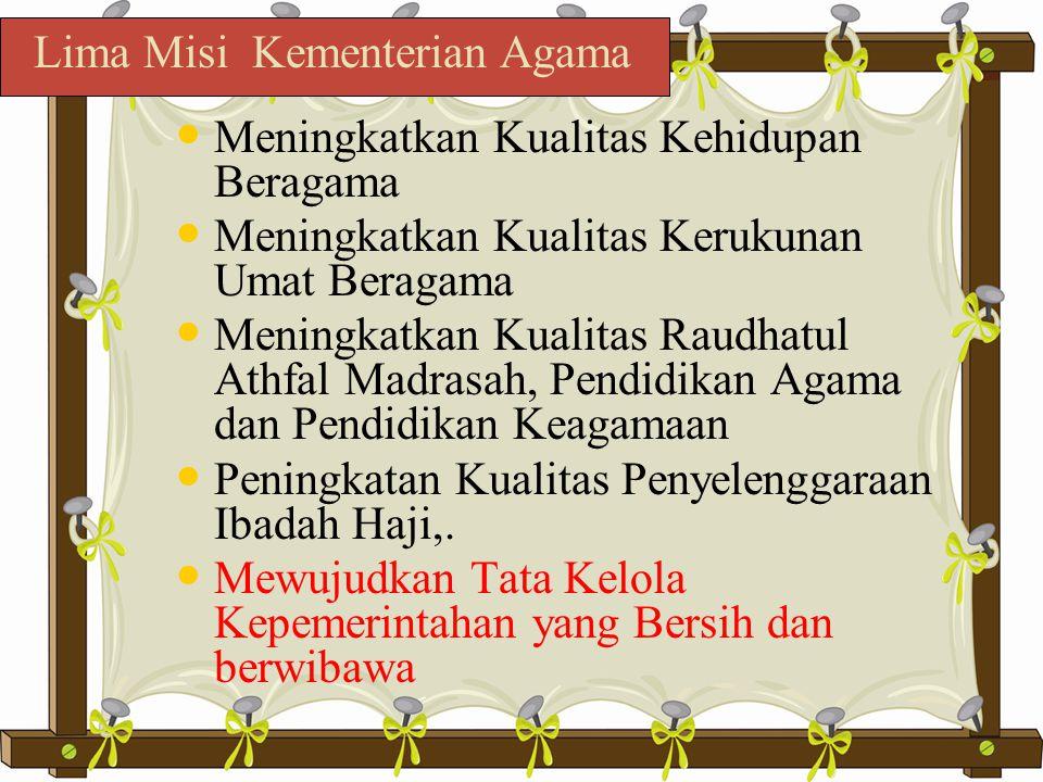Lima Misi Kementerian Agama