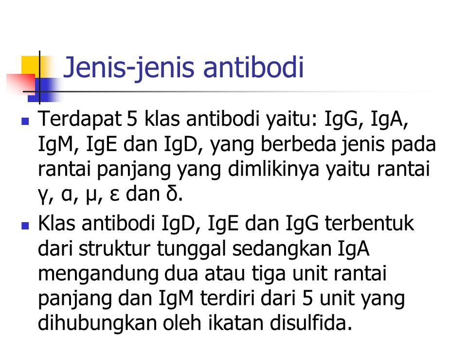 Jenis-jenis antibodi