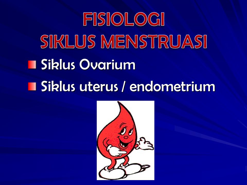 FISIOLOGI SIKLUS MENSTRUASI Siklus Ovarium Siklus uterus / endometrium