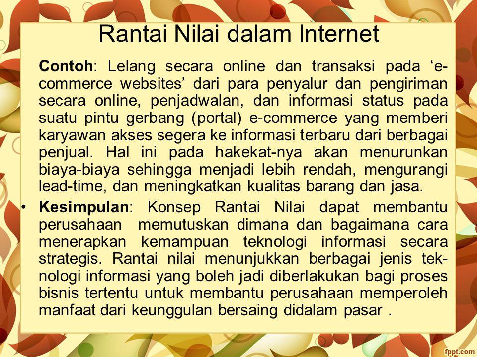 Rantai Nilai dalam Internet