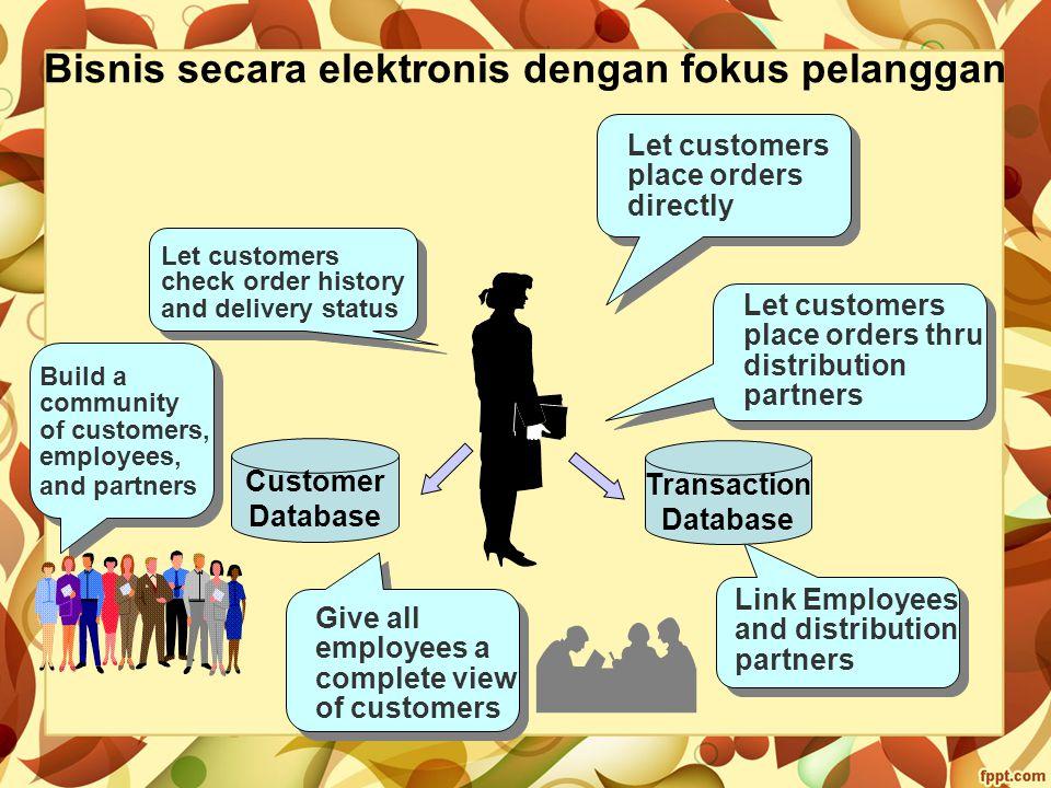 Bisnis secara elektronis dengan fokus pelanggan