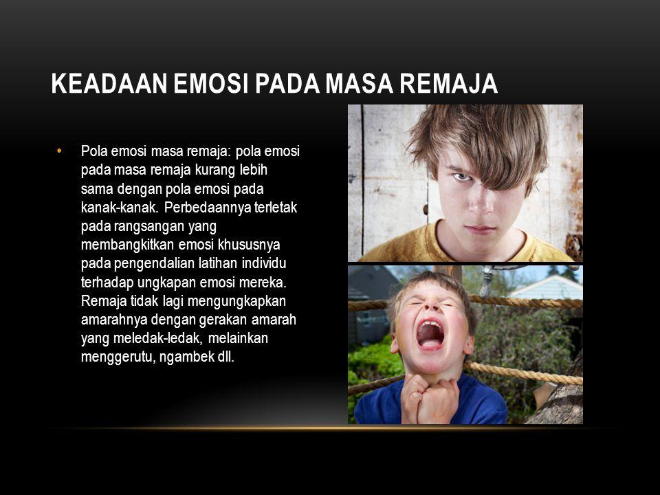 Keadaan emosi pada masa remaja