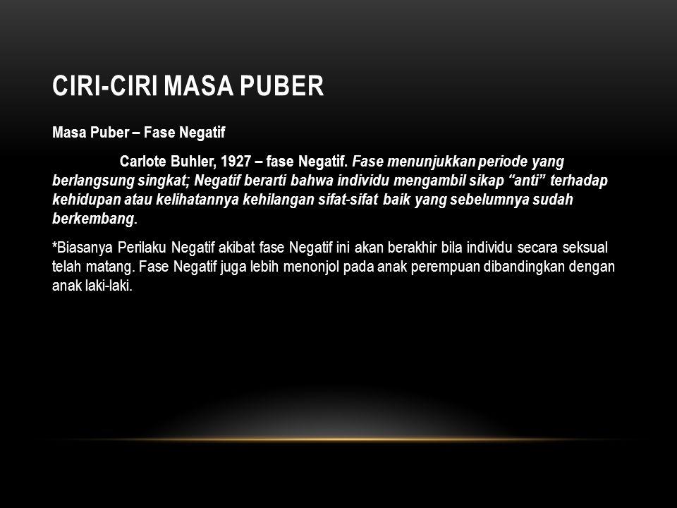 CIRI-CIRI MASA PUBER