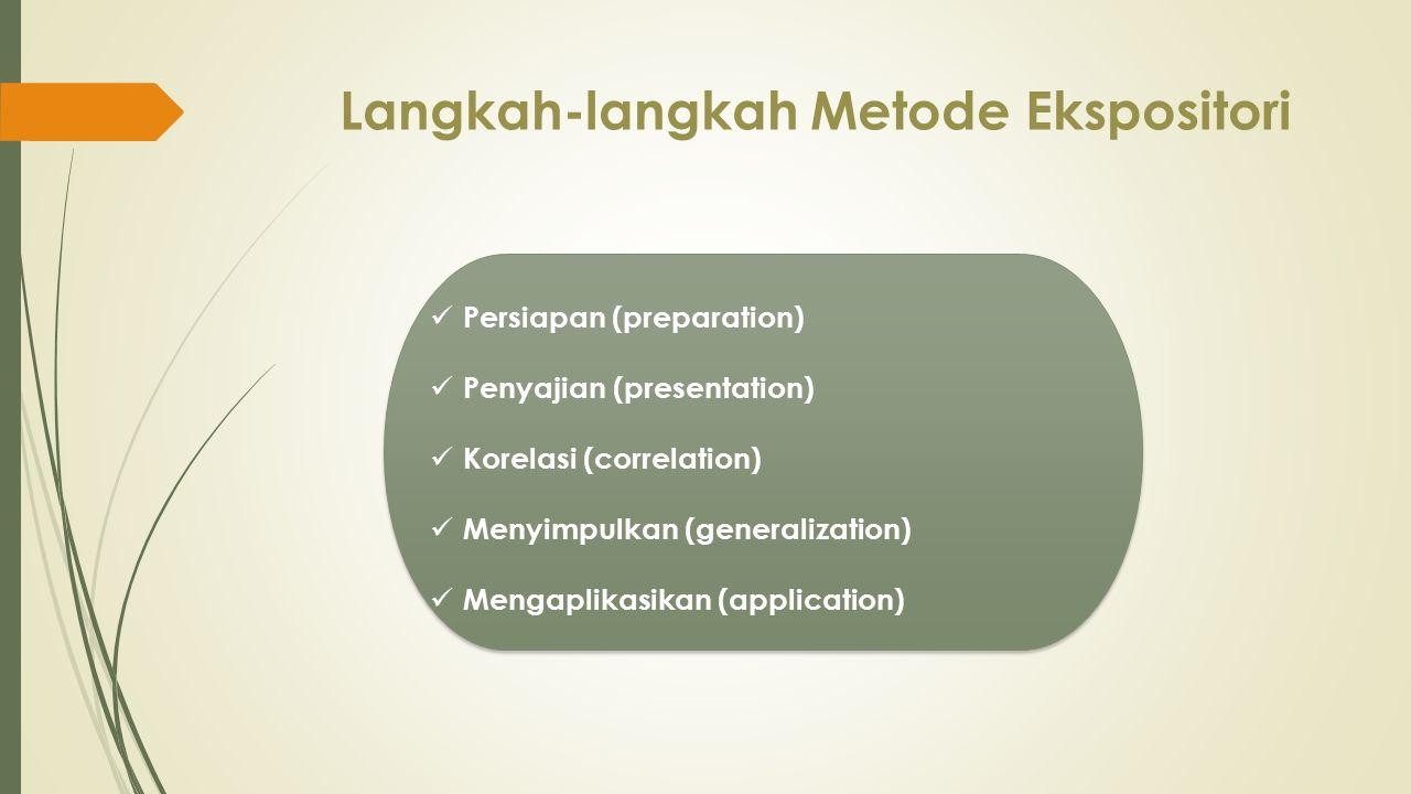 Langkah-langkah Metode Ekspositori