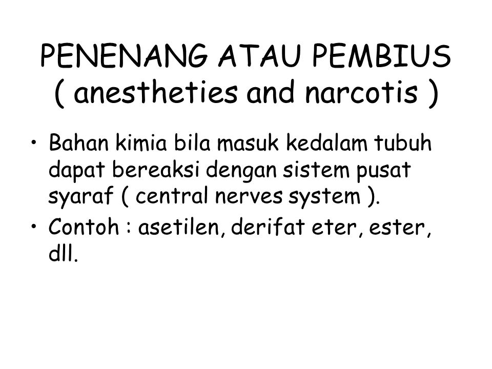 PENENANG ATAU PEMBIUS ( anestheties and narcotis )