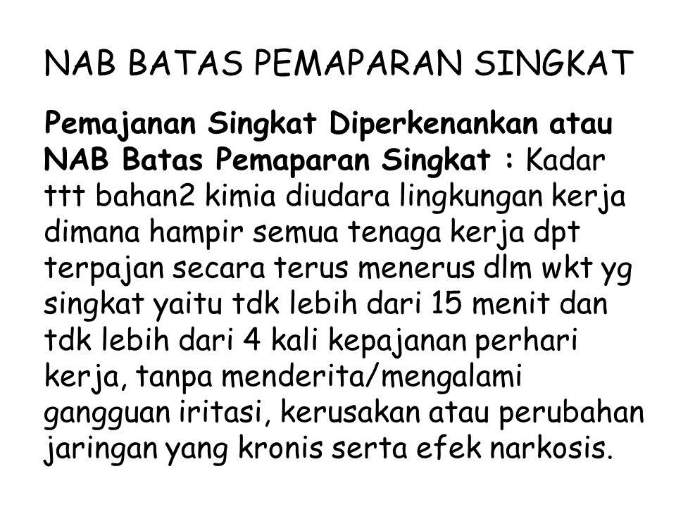 NAB BATAS PEMAPARAN SINGKAT