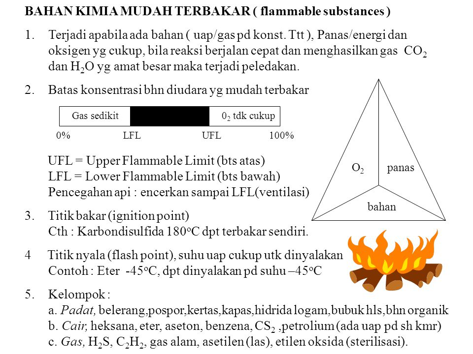 BAHAN KIMIA MUDAH TERBAKAR ( flammable substances )
