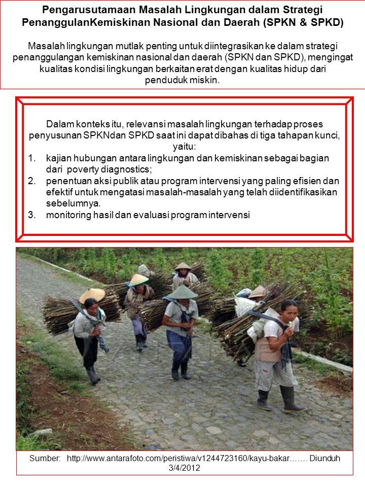 Pengarusutamaan Masalah Lingkungan dalam Strategi PenanggulanKemiskinan Nasional dan Daerah (SPKN & SPKD)