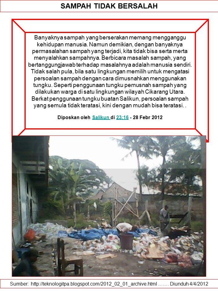 Diposkan oleh Salikun di 23:16 - 28 Febr 2012