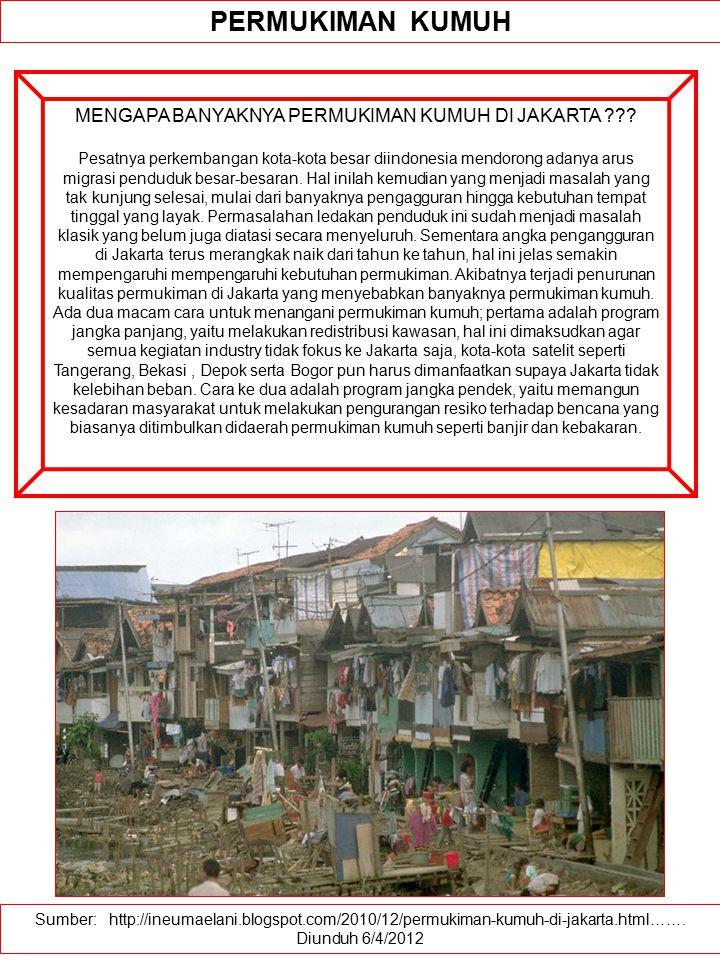 MENGAPA BANYAKNYA PERMUKIMAN KUMUH DI JAKARTA