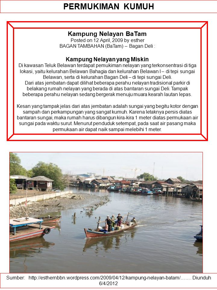 Kampung Nelayan yang Miskin