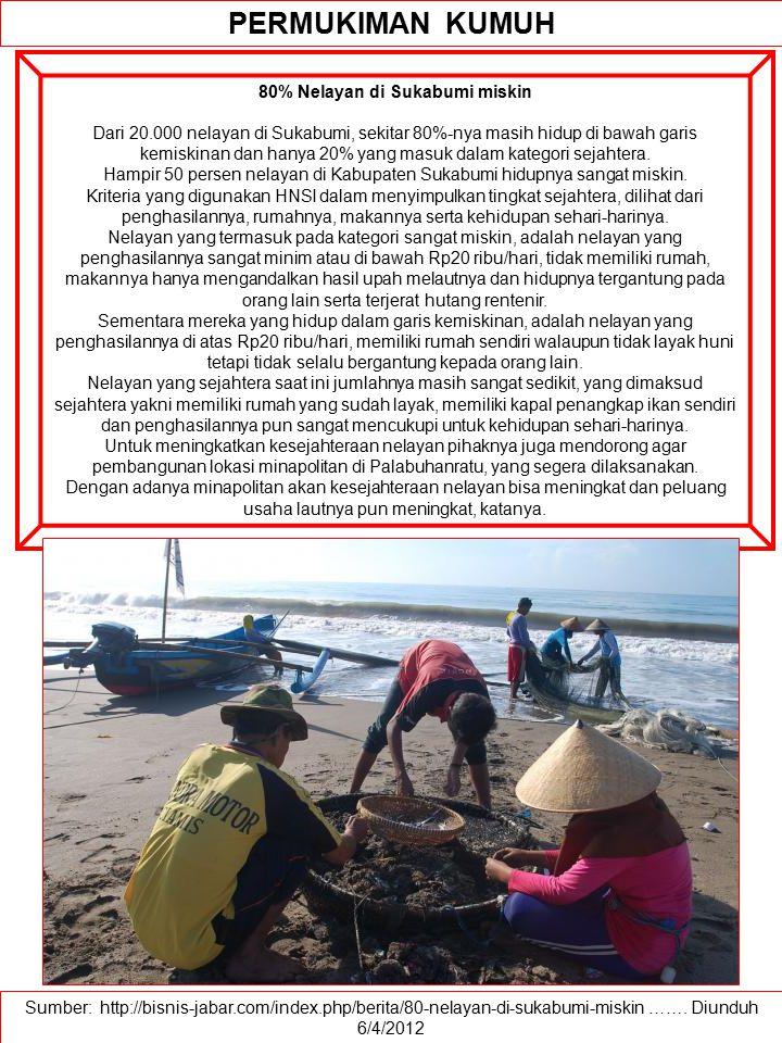 80% Nelayan di Sukabumi miskin