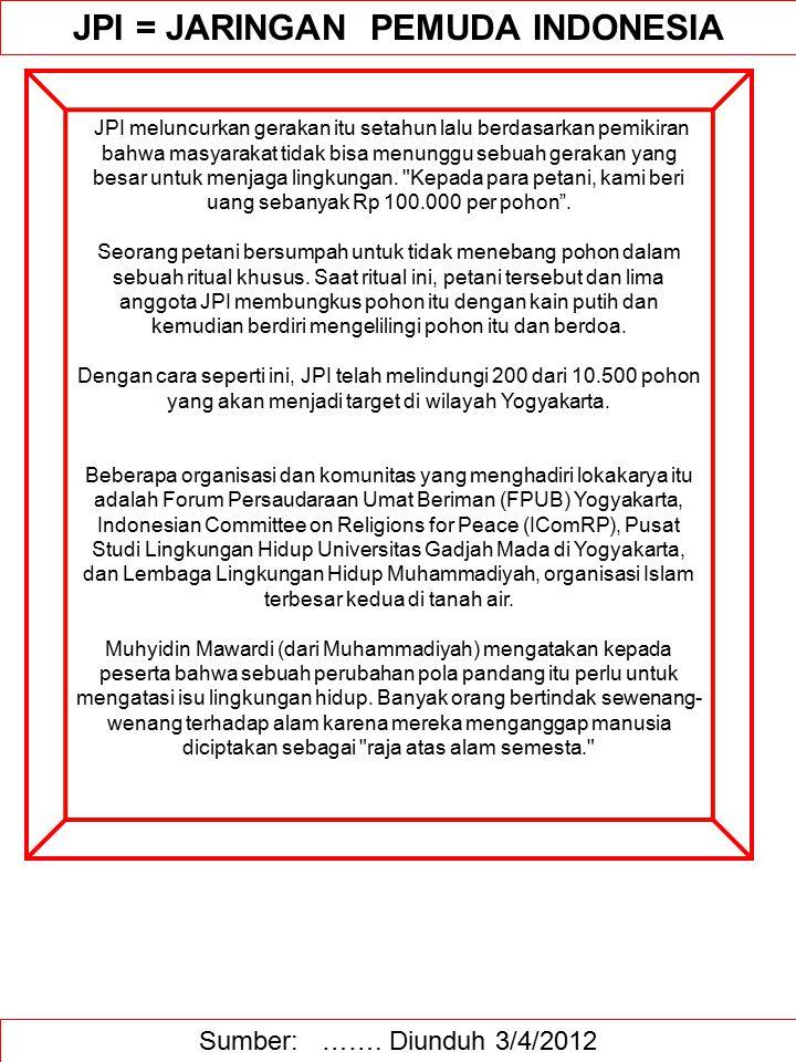 JPI = JARINGAN PEMUDA INDONESIA