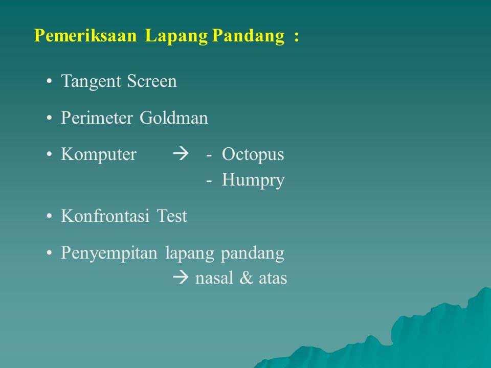 Pemeriksaan Lapang Pandang :