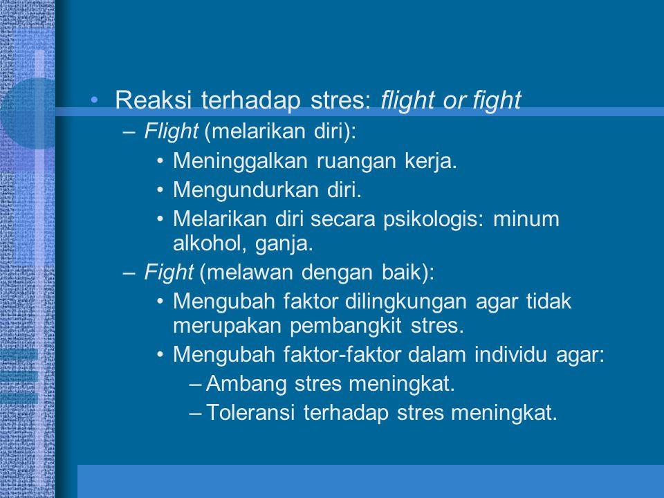 Reaksi terhadap stres: flight or fight