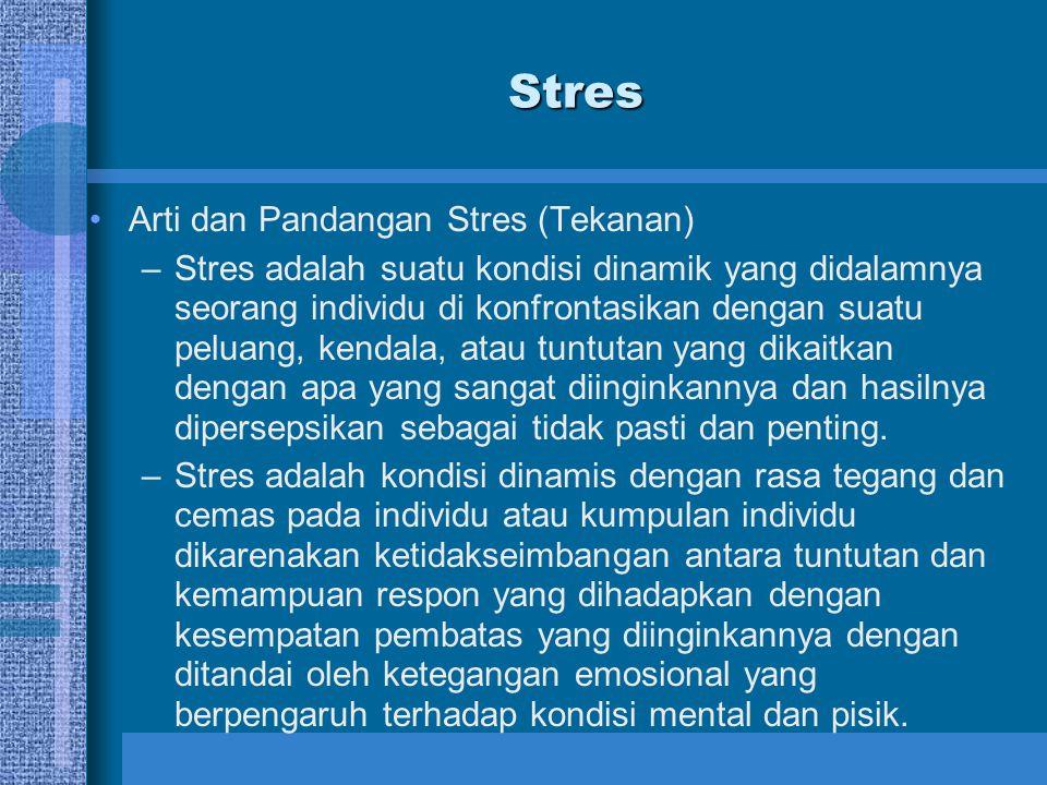 Stres Arti dan Pandangan Stres (Tekanan)