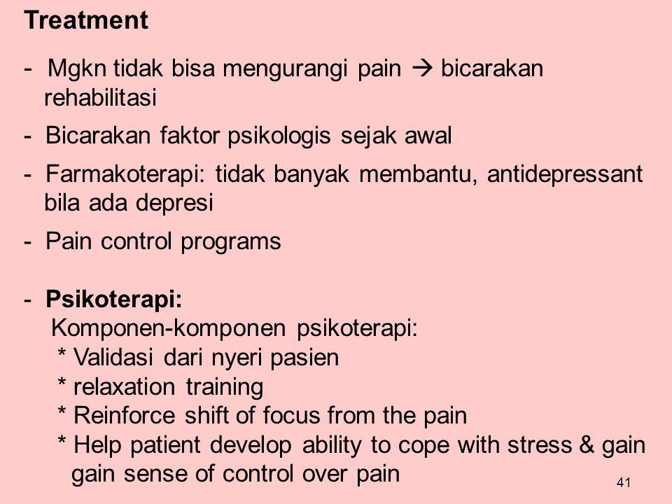 Mgkn tidak bisa mengurangi pain  bicarakan